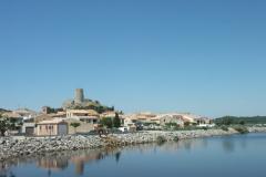 Die Altstadt von Gruissan mit Lagune