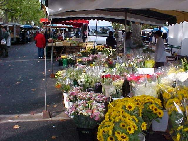 St. Chinian market flowers