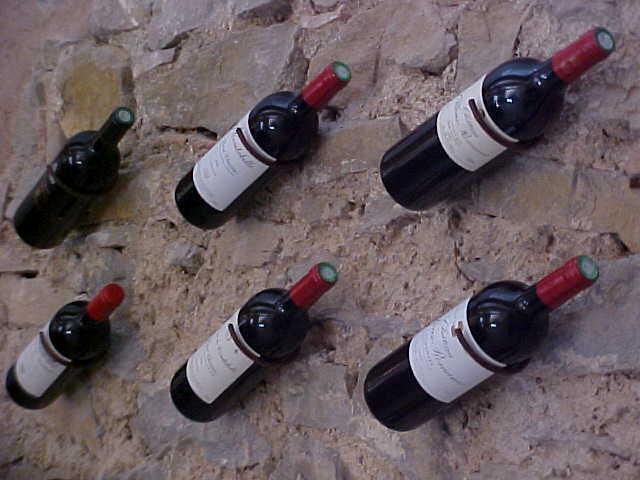 bottles on wall